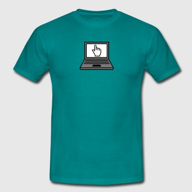 hand click mouse cursor computer laptop notebook p T-Shirts - Men's T-Shirt