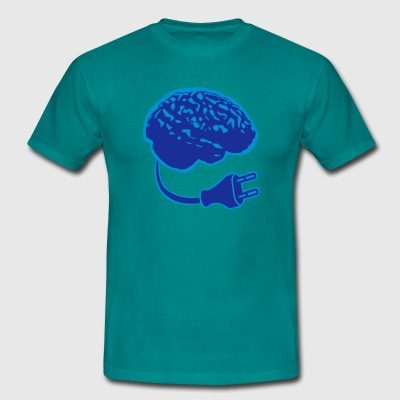 power plug connector think brain electronically cl T-Shirts - Men's T-Shirt