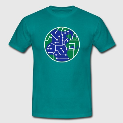 earth technology networked data information electr T-Shirts - Men's T-Shirt