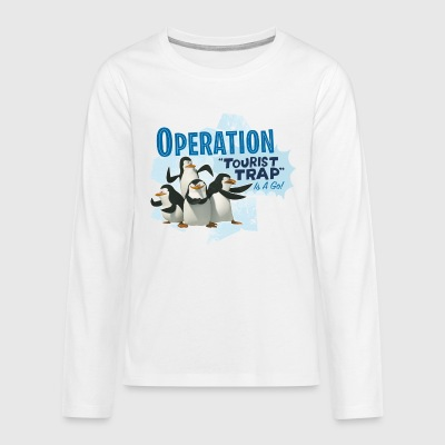 Madagascar Pinguine Operation Tourist Trap Teenage - Teenager Premium Langarmshirt