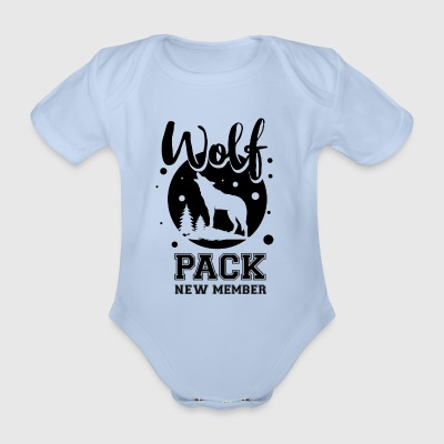 Wolf pack new member  - Organic Short-sleeved Baby Bodysuit