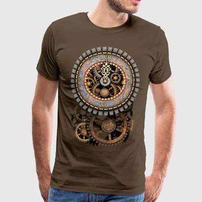 Steampunk Clock and Gears T-Shirts - Mannen Premium T-shirt