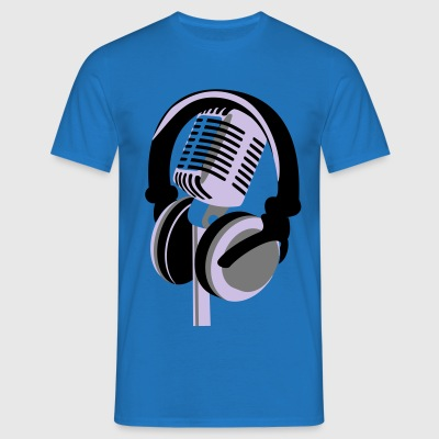 RETRO MICROPHONE AND HEADPHONE T-SHIRT - Men's T-Shirt