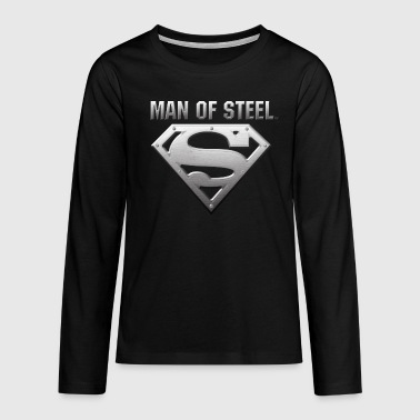 Superman 'Man of Steel' Tee shirt manches longues  - T-shirt manches longues Premium Ado