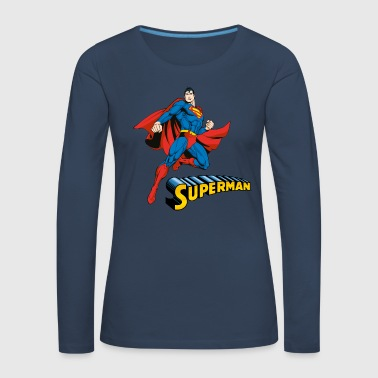 Superman Pose Tee shirt manches longues Femme - T-shirt manches longues Premium Femme