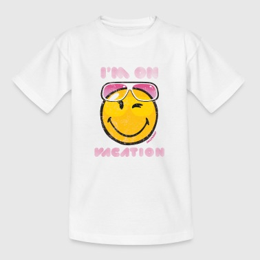SmileyWorld 'I'm on vacation' teenager t-shirt - T-skjorte for tenåringer
