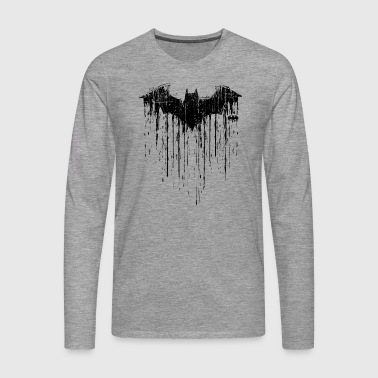 Batman 'Double Logo' Men Longsleeve shirt - Premium langermet T-skjorte for menn