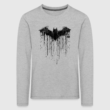 Batman 'Double Logo' Kid's Longsleeve shirt - Premium langermet T-skjorte for barn