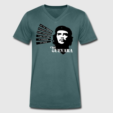 Che Guevara If you tremble with Indignation Men  - Men's Organic V-Neck T-Shirt by Stanley & Stella