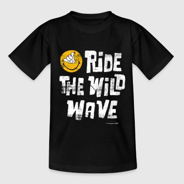 SmileyWorld 'Ride the wild wave' teenager t-shirt - Koszulka młodzieżowa