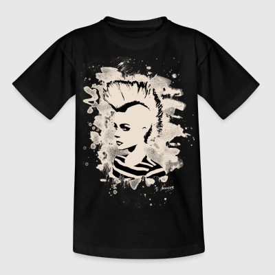 Punk Girl – bleached white - Teenager T-Shirt