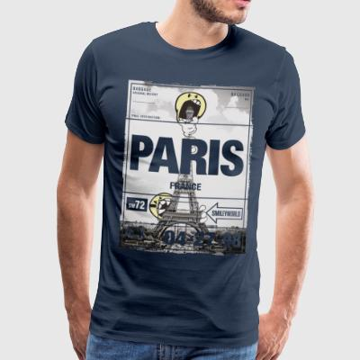Smileyworld 'Paris Eiffelturm' - Männer Premium T-Shirt