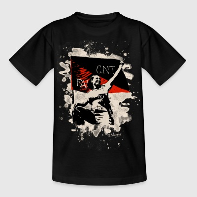 Anarchy Flag Woman – bleached - Teenager T-Shirt