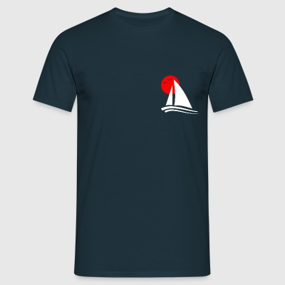 Sailing Black - Men's T-Shirt