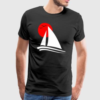 Sailing Black  - Men's Premium T-Shirt