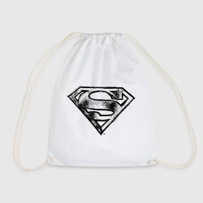 Superman S-Shield Logo black and white - Gymbag