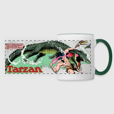 Tarzan fighting with a crocodil - Panoramamok