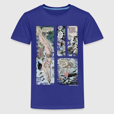 Tarzan und Stanly Comic - Teenager Premium T-Shirt
