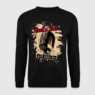 Rock-n-Roll Microphone - red - Männer Pullover