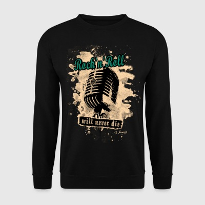 Rock-n-Roll Microphone - green - Männer Pullover
