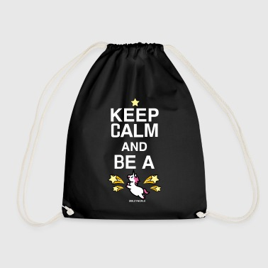 SmileyWorld Keep Calm and Be A Unicorn - Turnbeutel