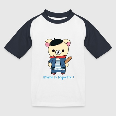 Teddy Frenchy - T-shirt baseball Enfant