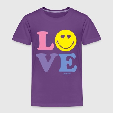 SmileyWorld Love Liebe Herzchenaugen Smiley - Kinder Premium T-Shirt