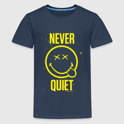 SmileyWorld Never Quiet Smiley - Teenager premium T-shirt