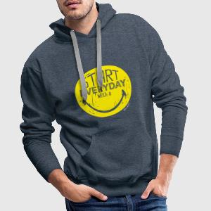 SmileyWorld Start everyday with a Smile - Men's Premium Hoodie