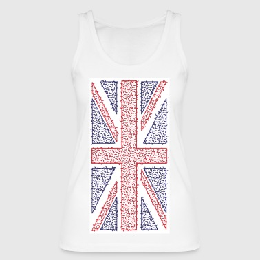 Curvy Union Jack T-Shirt - Vertical Print - Women's Organic Tank Top by Stanley & Stella