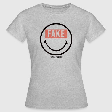 SmileyWorld Sourire Forcé Fake - T-shirt Femme