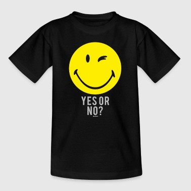 SmileyWorld Yes or No? Smiley - Teenage T-shirt