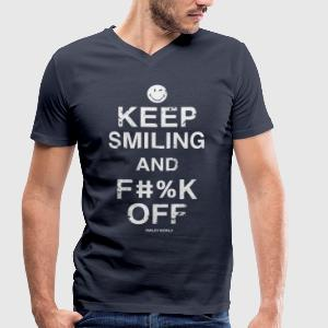 SmileyWorld Keep Smiling And F**k Off - T-shirt bio col en V Stanley & Stella Homme