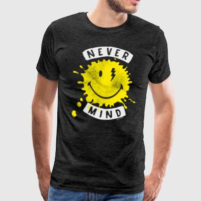 SmileyWorld Never Mind Splash Smiley - Männer Premium T-Shirt