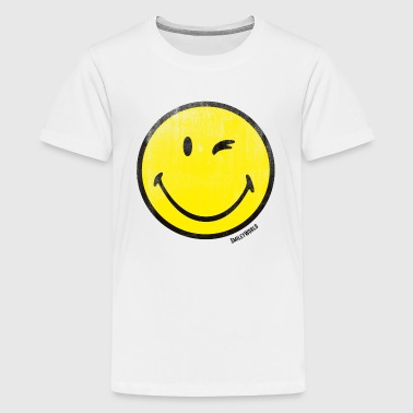 SmileyWorld Classic Wink Smiley - Camiseta premium adolescente