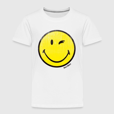 SmileyWorld Zwinkernder Smiley Used Look - Kinder Premium T-Shirt