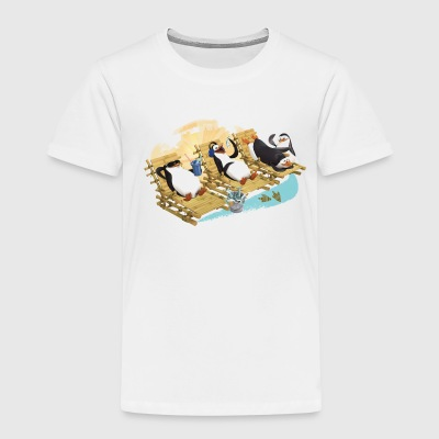 Pinguine am Strand - Kinder Premium T-Shirt