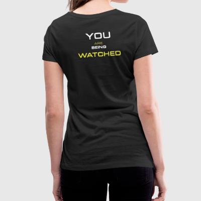 Watching you - T-shirt bio col en V Stanley & Stella Femme