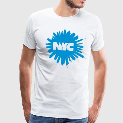 New York Circle T-Shirts - Men's Premium T-Shirt