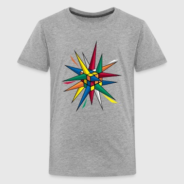 Rubik's Spiky Cube - Teenage Premium T-Shirt