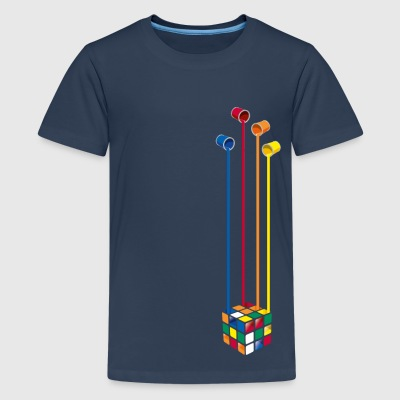 Rubik's Paint Buckets - Teenage Premium T-Shirt