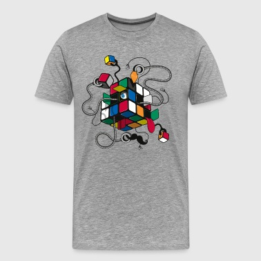 Rubik's Cube Illustration - T-shirt Premium Homme