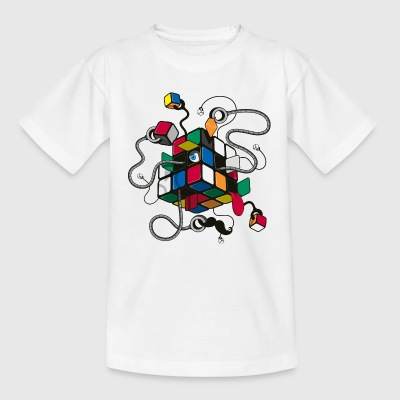 Rubik's Illustrated Cube - Teenage T-shirt