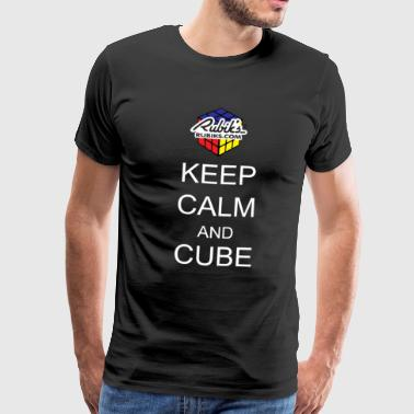Rubik's Keep Calm - Men's Premium T-Shirt
