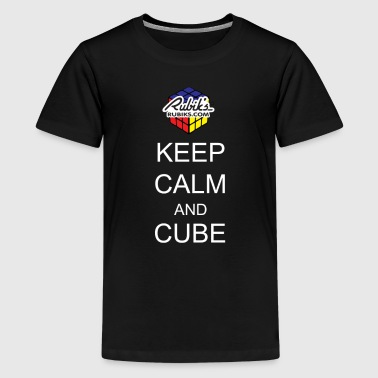 Rubik's Keep Calm - T-shirt Premium Ado