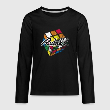 Rubik's Cube Distressed - Teenagers' Premium Longsleeve Shirt