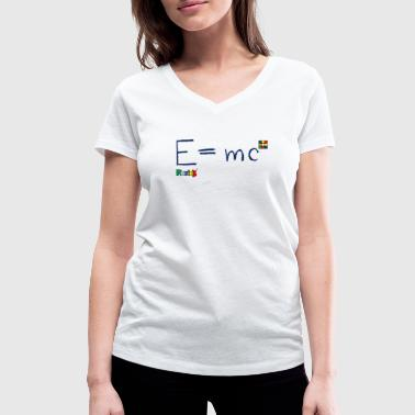 Rubik's E = mc Blue - Women's Organic V-Neck T-Shirt by Stanley & Stella