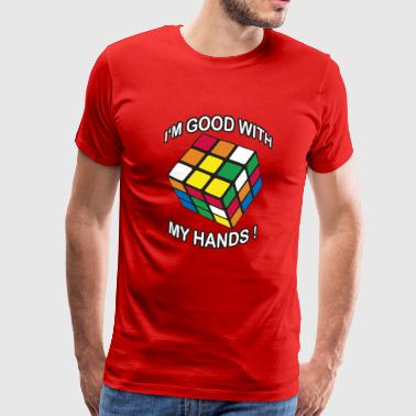 Rubik's I'm good with my Hands - Men's Premium T-Shirt