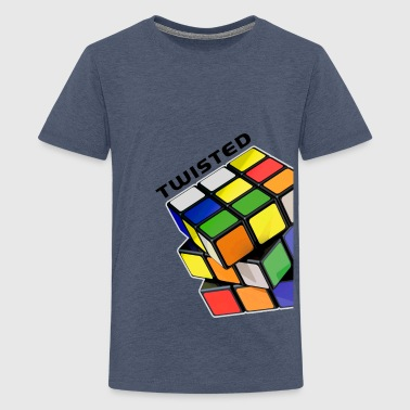 Rubik's Twisted Cube tilted - Camiseta premium adolescente
