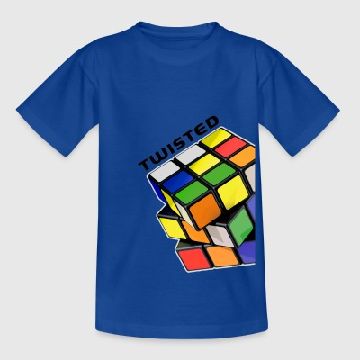 Rubik's Twisted Cube tilted - Teenager T-shirt